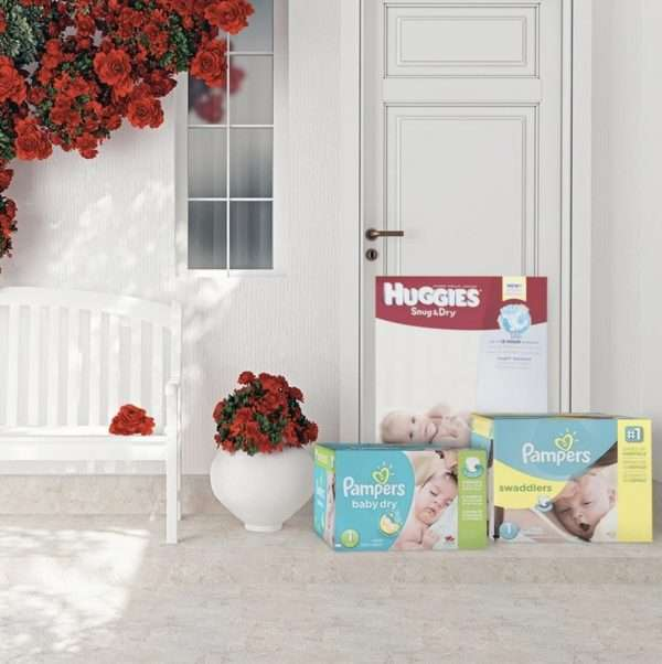 3 cases of diapers delivered to the door