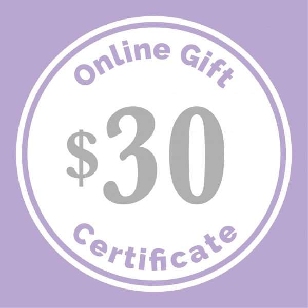$30 gift certificate
