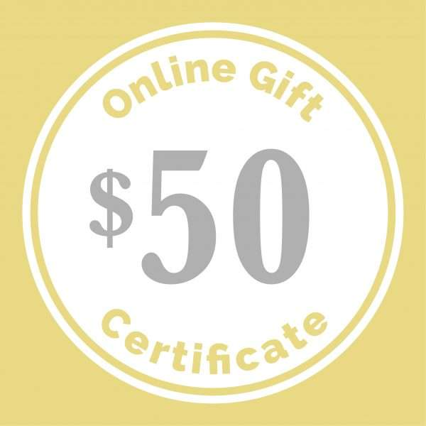 $50 gift certificate for baby gift