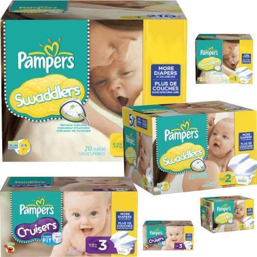 six disposable diapers gift