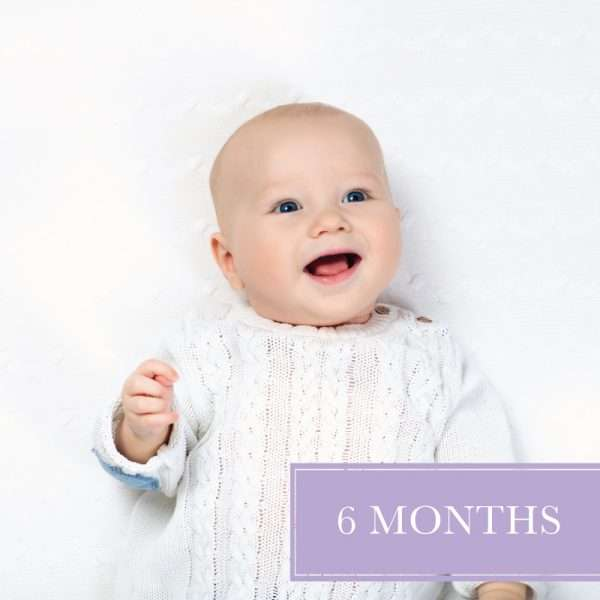 Six Months diaper delivery with happy baby