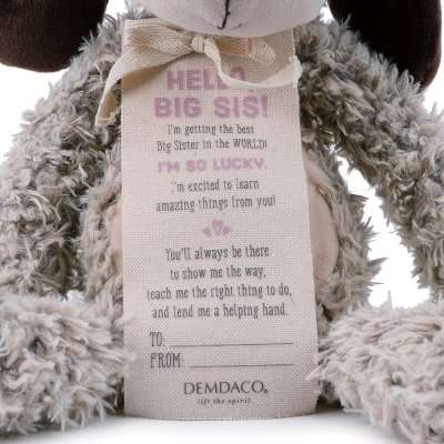 Hello Big Sis tag on the Big Sister Puppy
