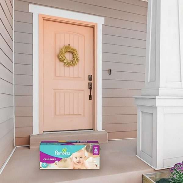 Pink door pampers diapers delivery