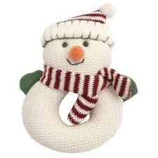 snowman rattle for baby