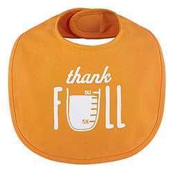 Orange thankfull bib