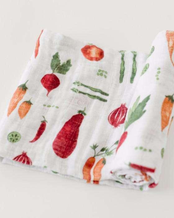 Veggie colorful baby blanket