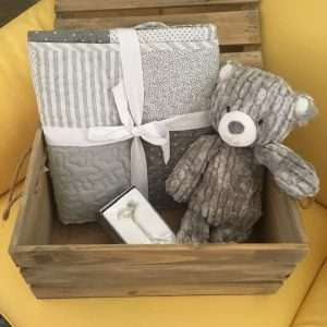 Gray Quilt Baby Gift