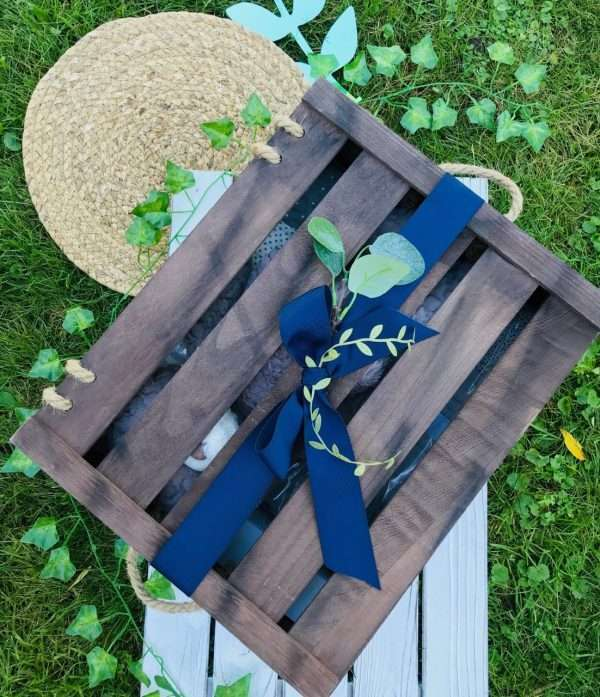 Wooden crate baby gift