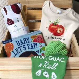 upscale baby shower crate veggies