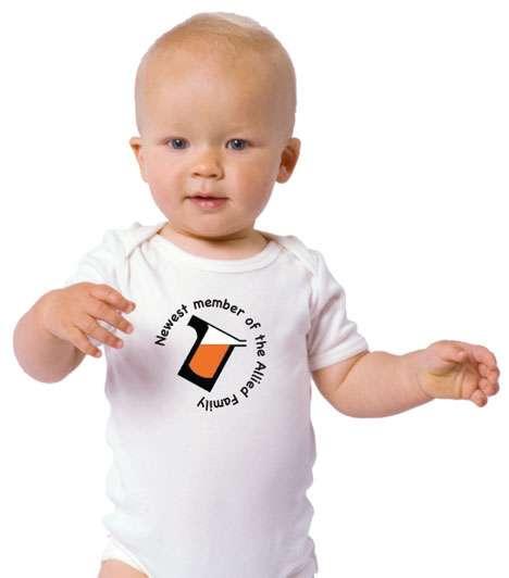 Corporate logo on baby tshirt