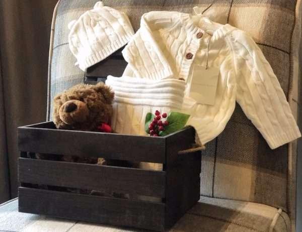 knit baby blanket knit sweater teddy bear