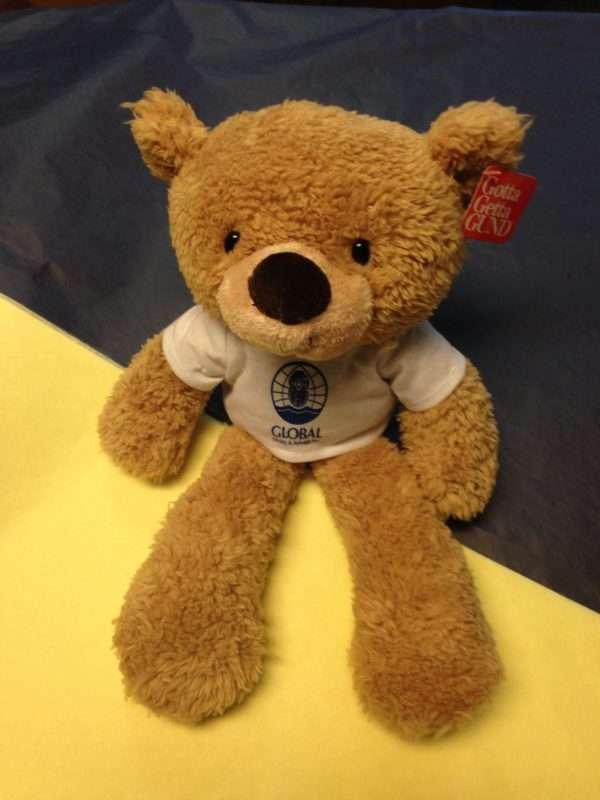 Gund Fuzzy Bear with company logo