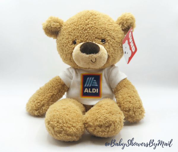 Fuzzy Bear with corporate logo shirt