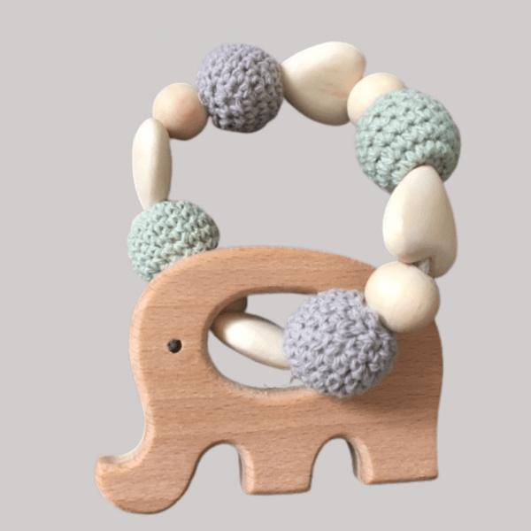 Beaded Elephant Teether