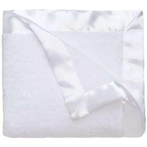 White Satin Trimmed Blanket