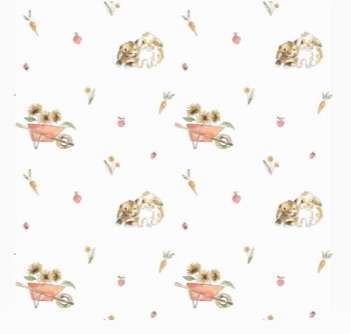 fabric with bunny print