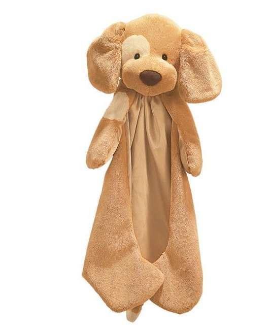 Gund brown puppy with satin tummy